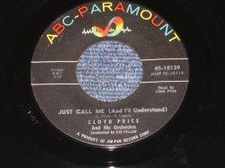 """画像1: LLOYD PRICE - JUST CALL ME / 1960 US ORIGINAL 7"""" SINGLE"""