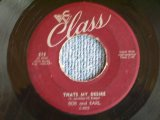 "BOB AND EARL - THAT'S MY DESIRE / 1950s US ORIGINAL 7""SINGLE"
