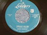 "EDDIE COCHRAN - TEENAGE HEAVEN ( 2nd PRESS ""TEENAGE"" CREDIT LABEL) / 1959 US ORIGINAL 7"" Single"